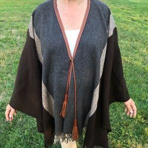 Hermes Wool Poncho Scarf